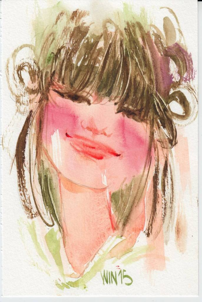 Lady in watercolor 0
