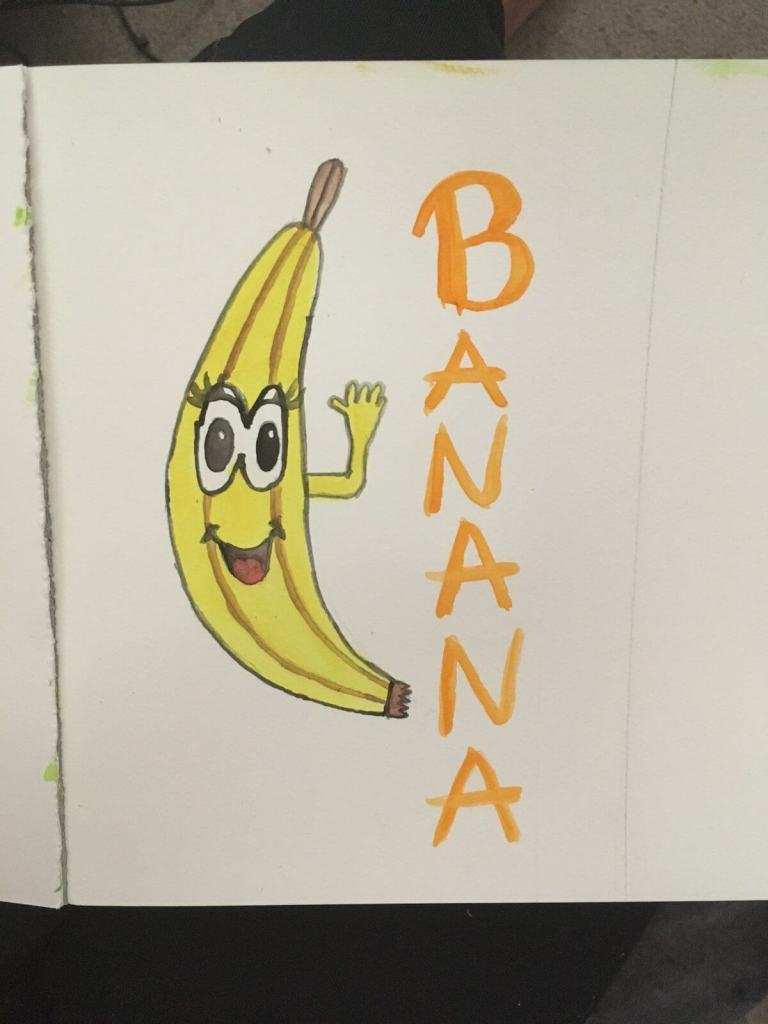 Day 8 theme is Banana 🍌 Something a little more fun compared to regular food painting. 1C83F