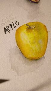 Day 2 Hahnemuhle Cezzane wc paper Gansi Tambi watercolor 20171102_083341