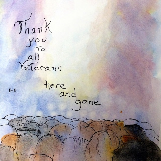 An older painting. The same message of love and thanks to all veterans 💞 527E2744-18AE-41BE-