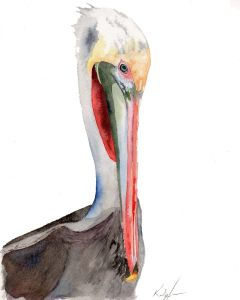 Pelicans are probably one of my most favorite subjects to paint. Brown Pelican 003 etsy 001