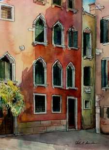 #WorldWatercolorGroup - Watercolor by Helen K Beacham - Doodlewash