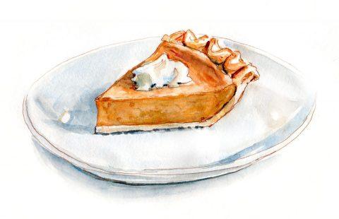 #WorldWatercolorGroup - Day 21 - Pumpkin Pie - Doodlewash