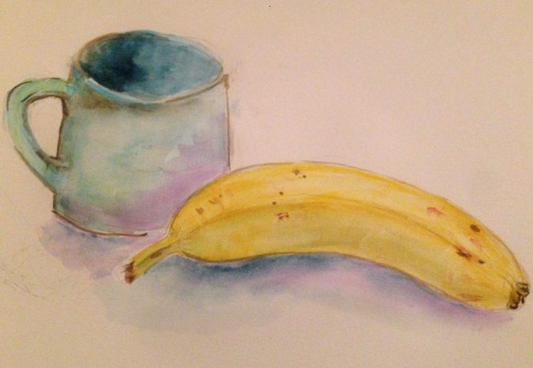 Quick sketch of a banana & cup of coffee. Yummy start to the day! E99381E2-D728-4C5F-8BFF-7D85C5