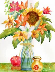 #WorldWatercolorGroup - Watercolor Painting by Patricia Katz - Doodlewash