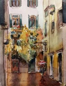#WorldWatercolorGroup - Watercolor by Helen K. Beacham - Doodlewash