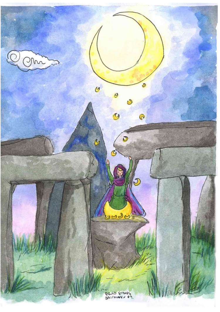 """This is something I made yesterday, under the topic """"Druid's stones"""" I really love"""