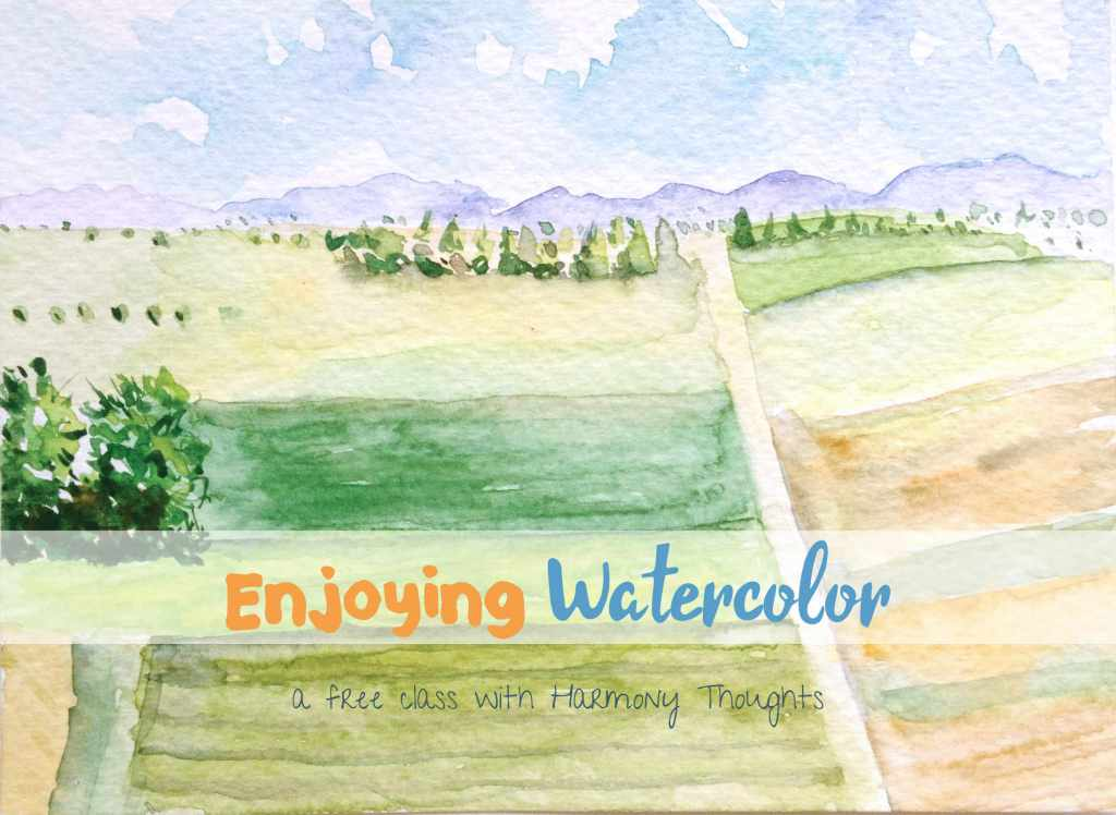 I'm delighted to share with you all that finally–my watercolor classes are now up! Two f
