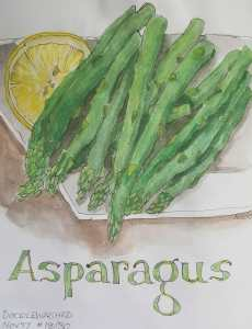 Asparagus ~ 18/30 @doodlewashed prompt for November. It was so nice to take time to paint a sketch a