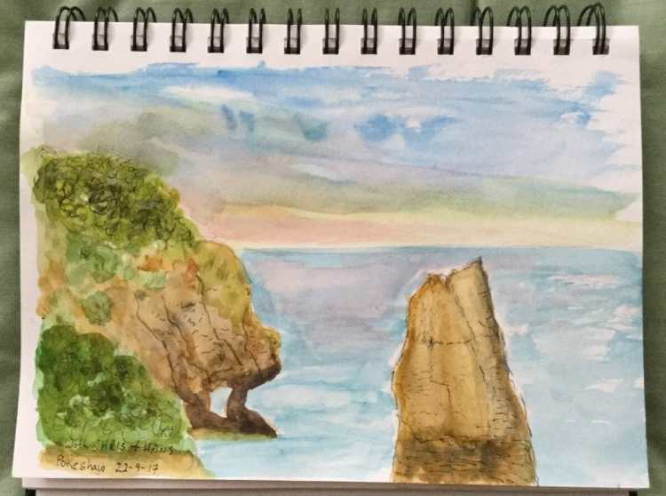 I'm new to this group. I'm sharing a watercolour from my art journal. I did this in September to
