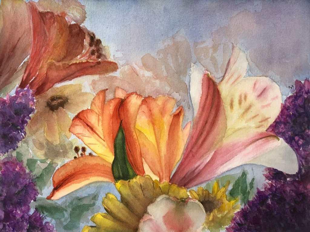 Alstroemeria Bouquet on Cezanne Floral_AlstroemeriaBouquet_Cezanne01_WC