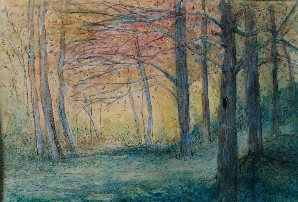 forest(watercolor paper) IMG_20171209_150330