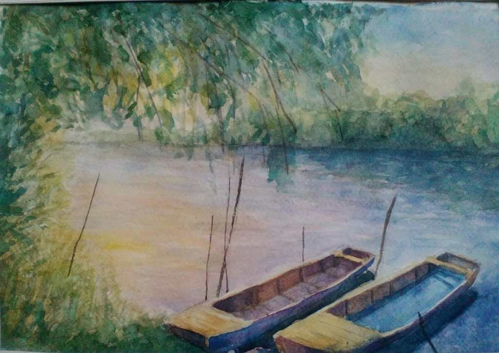boats(watercolor paper) IMG_20171212_083915