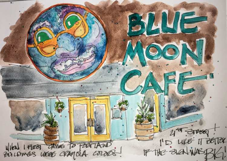https://dkatiepowellart.me/2017/12/01/usk-city-market-and-blue-moon-cafe/ #urbansketching W17 11 12