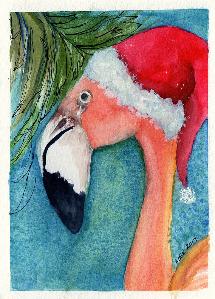 This card is for my niece who loves Florida but lives in the Northeast. Even a Flamingo would want a
