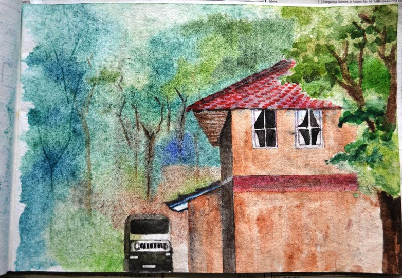#WorldWatercolorGroup - Watercolor by Seema Misra - Doodlewash