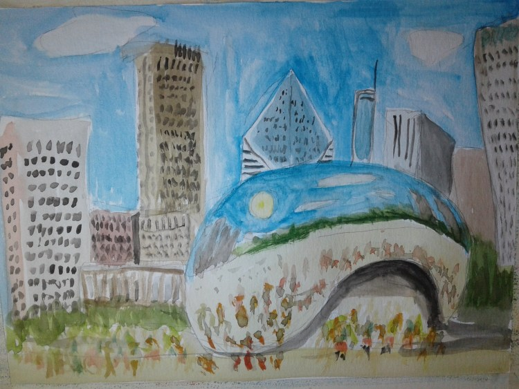 "Today's prompt is ""Shiny"". Here is ""Cloudgate"" in Chicago, also called"