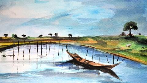 #WorldWatercolorGroup - Watercolor by Seema Misra - Doodlewash