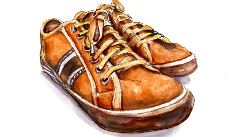 #WorldWatercolorGroup - Day 10 - Getting New Shoes - Doodlewash