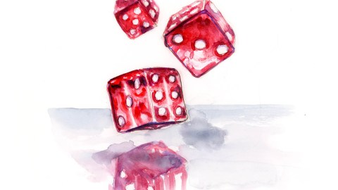 #WorldWatercolorGroup - Day 16 - Rolling The Dice - Doodlewash