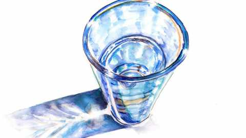 #WorldWatercolorGroup - Day 2 - A Tall Glass Of Water - Doodlewash