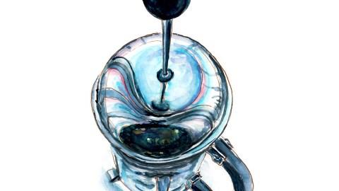 #WorldWatercolorGroup - Day 6 - Blue Skies And Coffee Breaks - Doodlewash