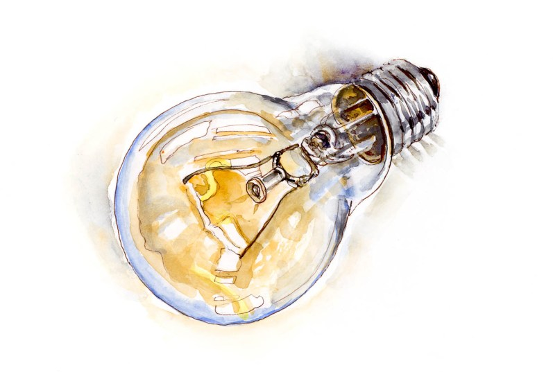 #WorldWatercolorGroup - Day 9 - Bright Ideas Light Bulb - Doodlewash