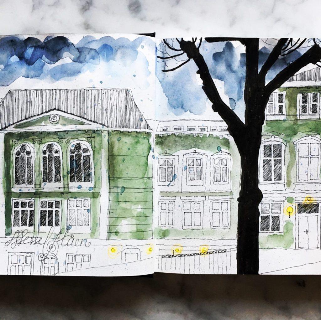 Urban sketching, Bergen IMG_3482