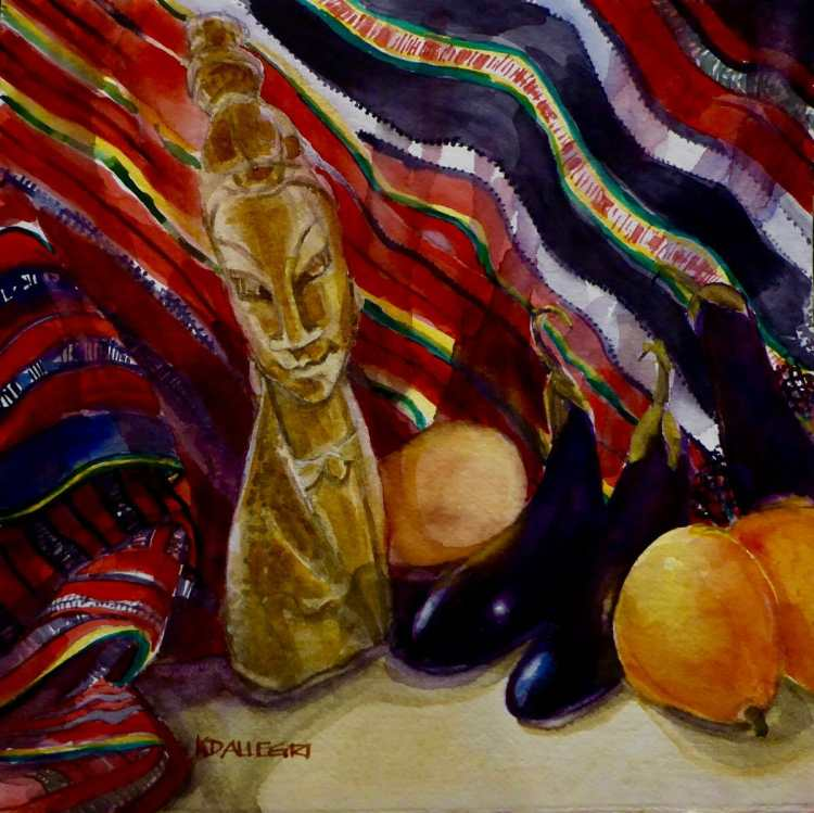 I started painting my Heritage Series in 2000. These are more recent watercolors that celebrate my c