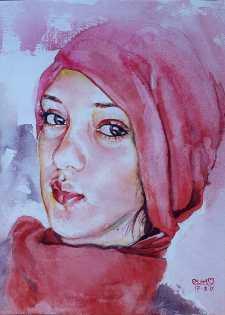 #WorldWatercolorGroup - Watercolor painting by Mahboob Raja 'Elham' - Doodlewash