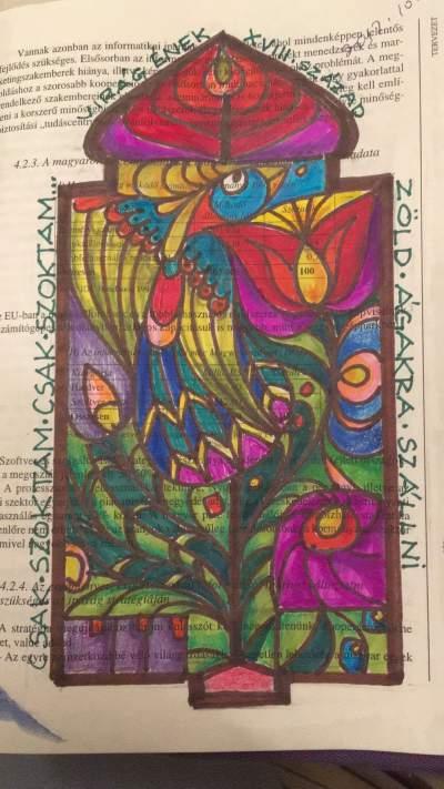A folksong illustration felszallott a pava