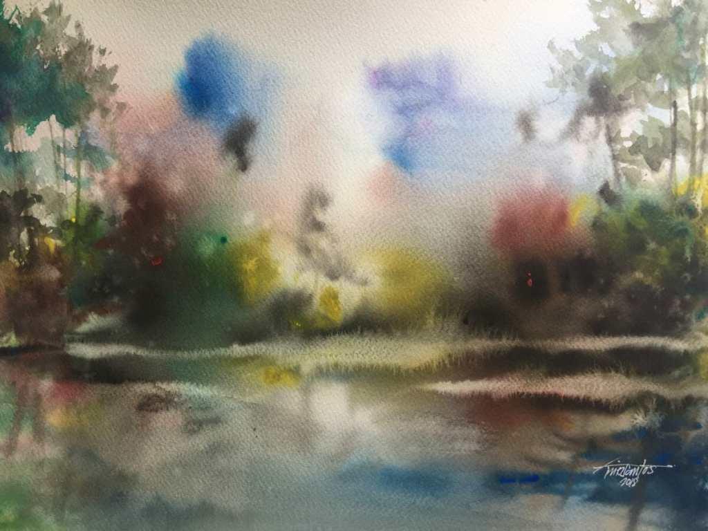 Landscape:composition Artist : Mc Collin Delos Santos Size: A3 coldpress paper 04D285A9-AFDC-45C4-B8