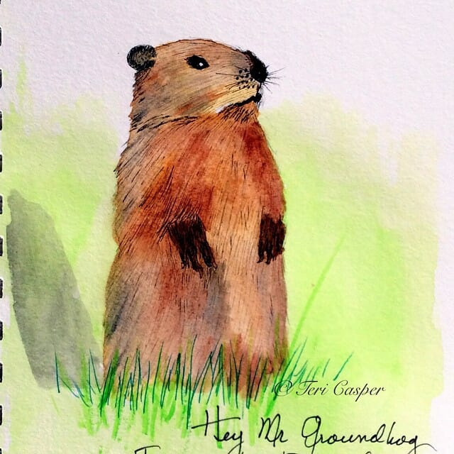 Here comes Mr Groundhog again. Apparently he is predicting an early spring. Good news for most peopl