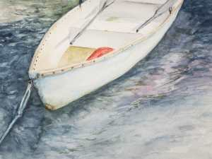 Watercolor painting from a photograph taken along the Maine coast this past summer. When I started p