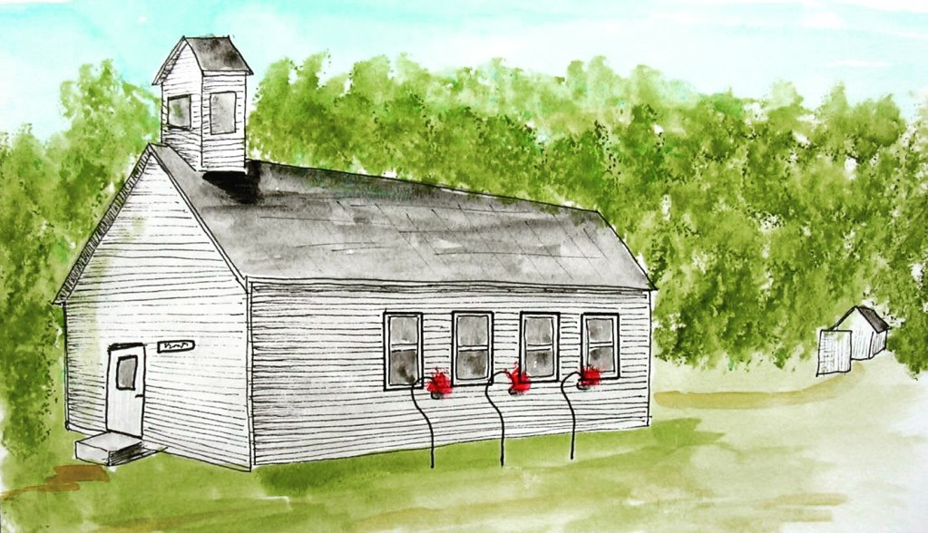Back to Small Town Sketchers. This is a small non-denominational Church in the Town of Monroe, Adams