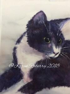 Watercolor of our cat, Fatsy. F4B29F56-5049-4692-89A8-DCAE2C573EDB