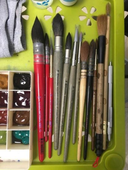 #WorldWatercolorGroup - Watercolor painting tools of Wang Zhenwei (Davidking) - Doodlewash