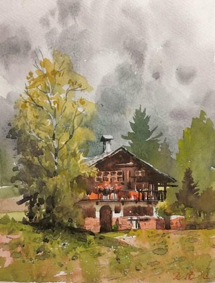 #WorldWatercolorGroup - Watercolor painting by Wang Zhenwei (Davidking) - Doodlewash