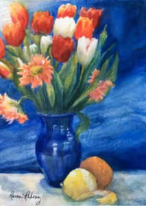 Painting of flowers my eldest son sent me for Valentine's Day. 1F827FEA-9173-477E-9A47-30B5BB0671E