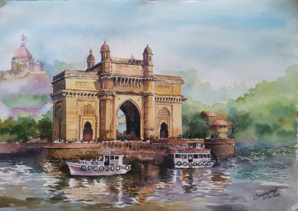 Gate Way Of India!! Watercolor on paper 50x36cm 20170521_095939