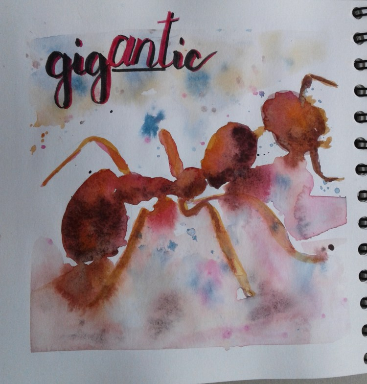 Day 255…gigantic Gigantic…. Hmmm what is gigantic that I could paint. Maybe I could go f