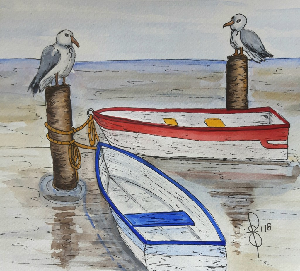 Pristine but not for long! Artist Susan Feniak. Daniel Smith Extra Fine Watercolors on Fabriano cold