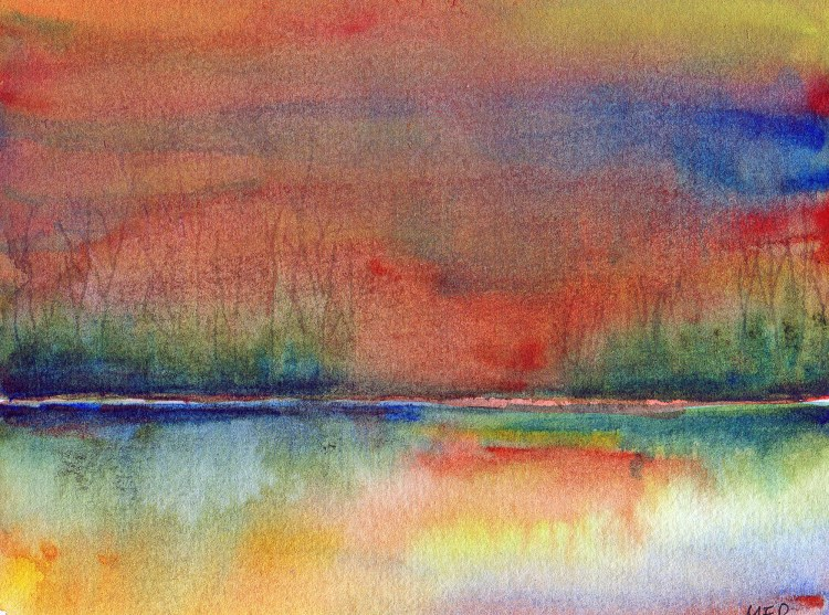 3/23/18 Colorful An imaginary sunset…playing with my QoR watercolors. 3.23.18 Colorful II img4