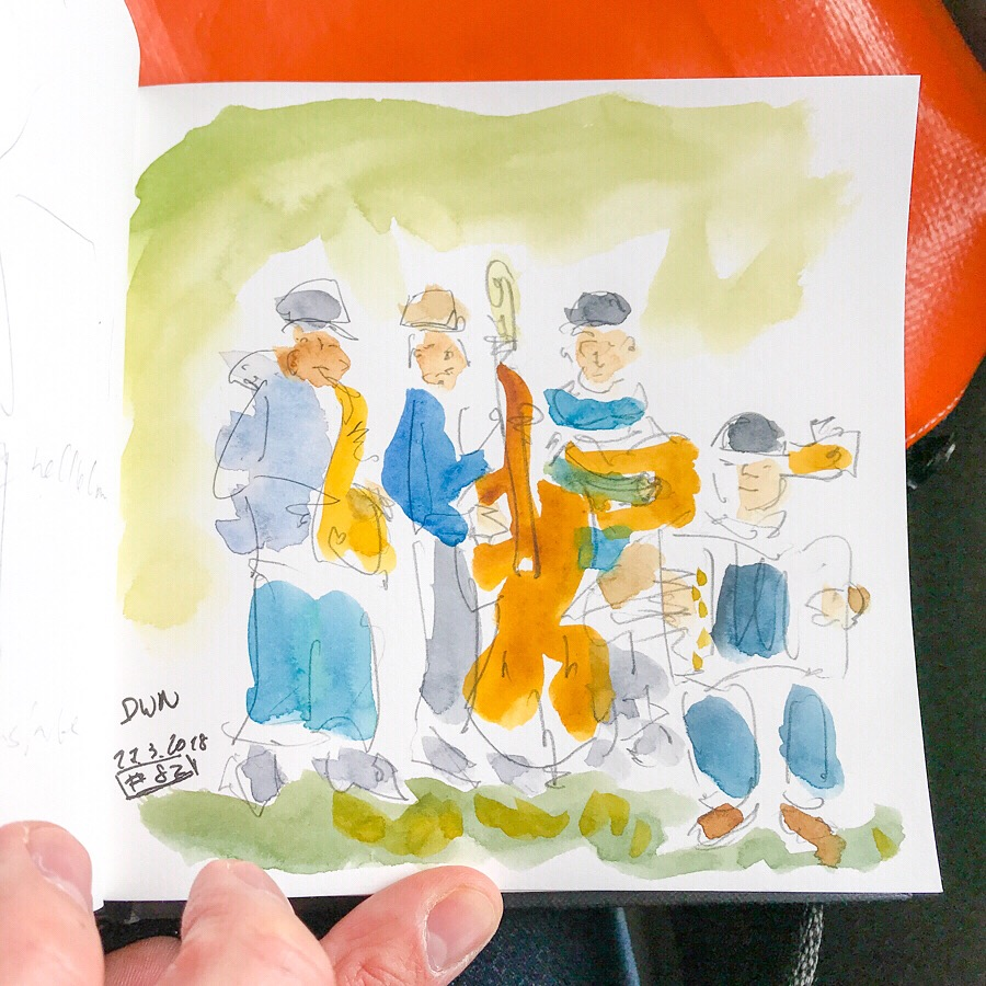 Yesterday a trip to the Swiss capital was in order. I was able to jot down a few quick sketches. I e