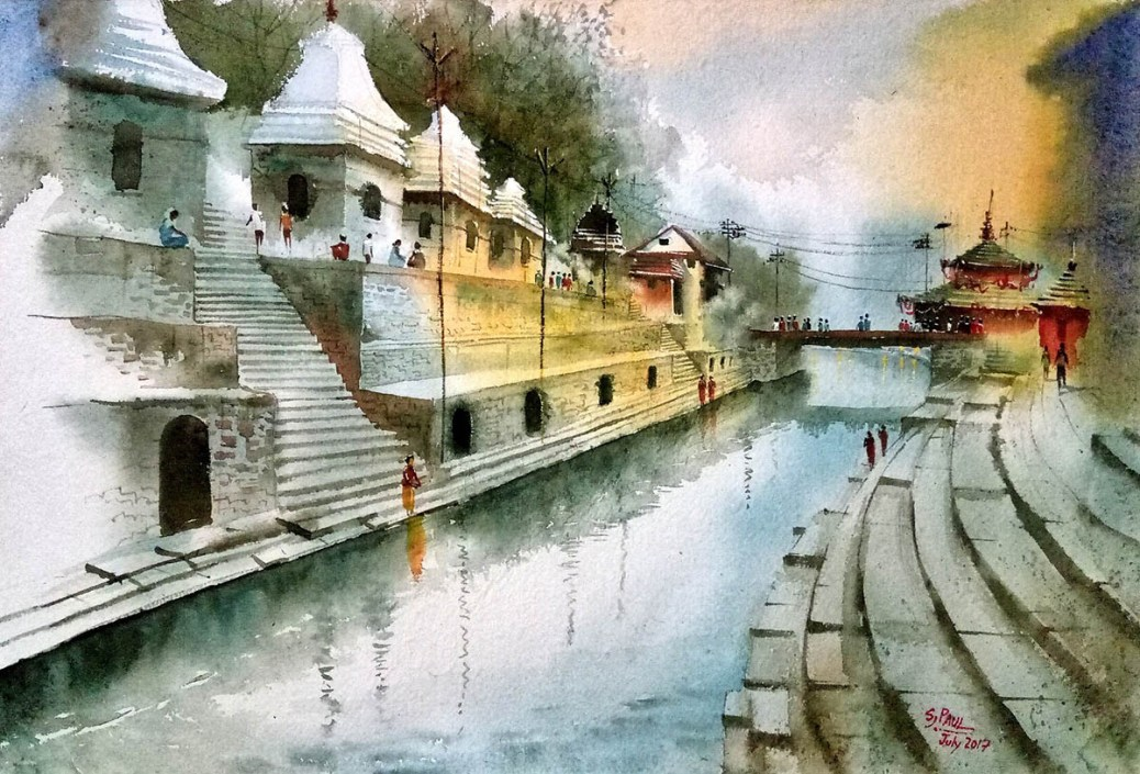 #WorldWatercolorGroup - Watercolor Painting by Subhajit Paul - Doodlewash