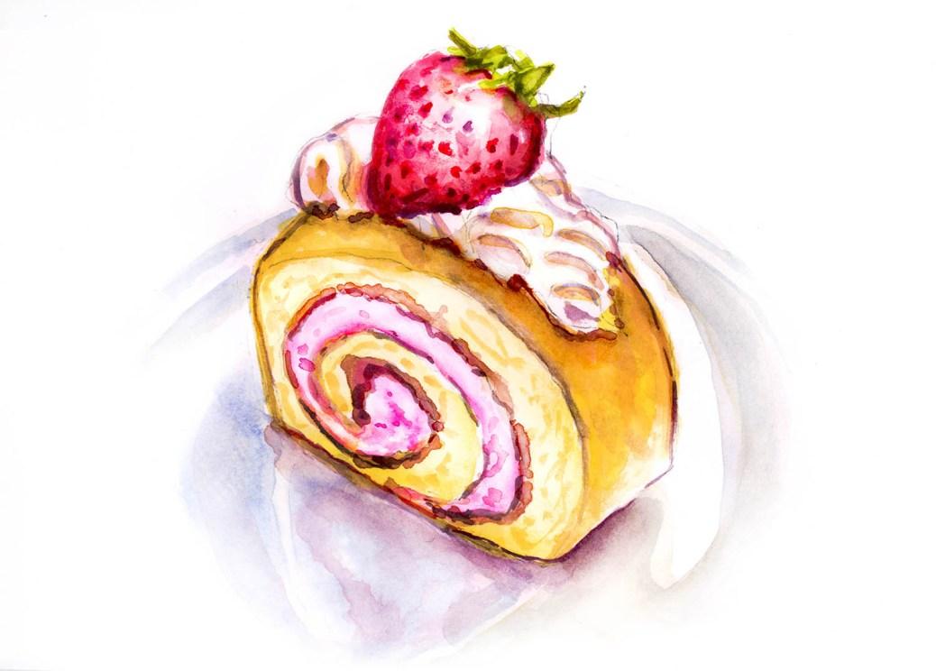 #WorldWatercolorGroup - Day 2 - Strawberry Shortcake Surprise - Doodlewash