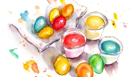 #WorldWatercolorGroup - Day 24 - The Art of Dyeing Easter Eggs - Doodlewash