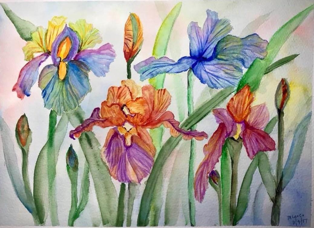 #WorldWatercolorGroup - Watercolor floral painting by Mayleen Laico - Doodlewash