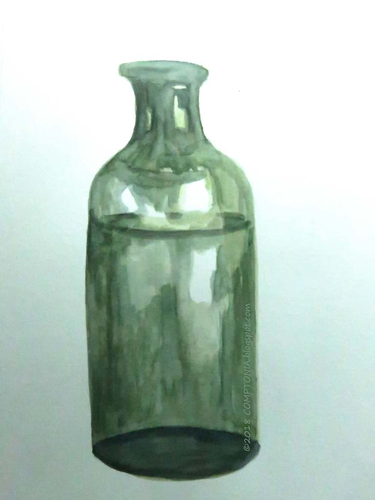 Day 84 of my DailyMarkmaking2018 effort: a Civil War era bottle recovered from the sunken Union Iron