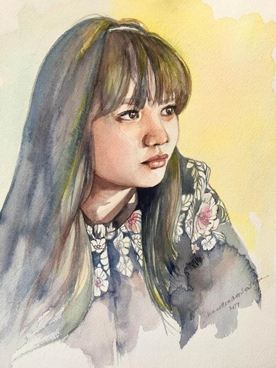 #WorldWatercolorGroup - Watercolor painting by Nanette Nacorda Catigbe, M.D. - Doodlewash